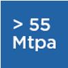 55mtpa